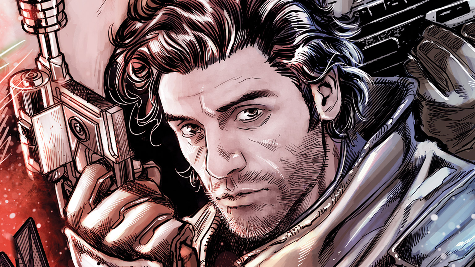 Poe Dameron on the cover of Allegiance #3.