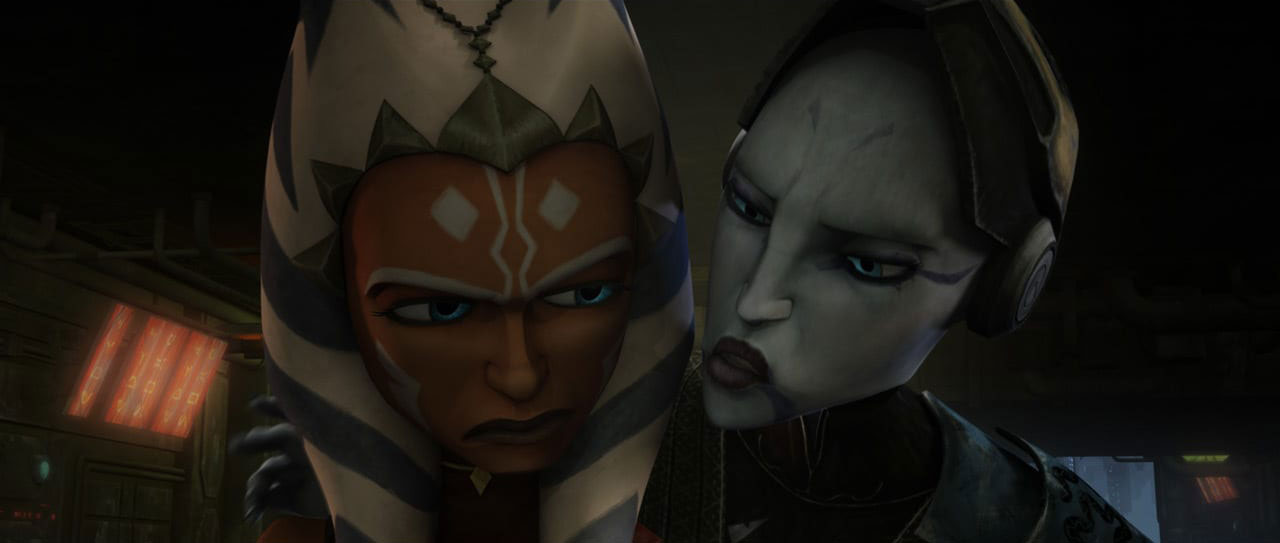 Asajj Ventress and Ahsoka Tano