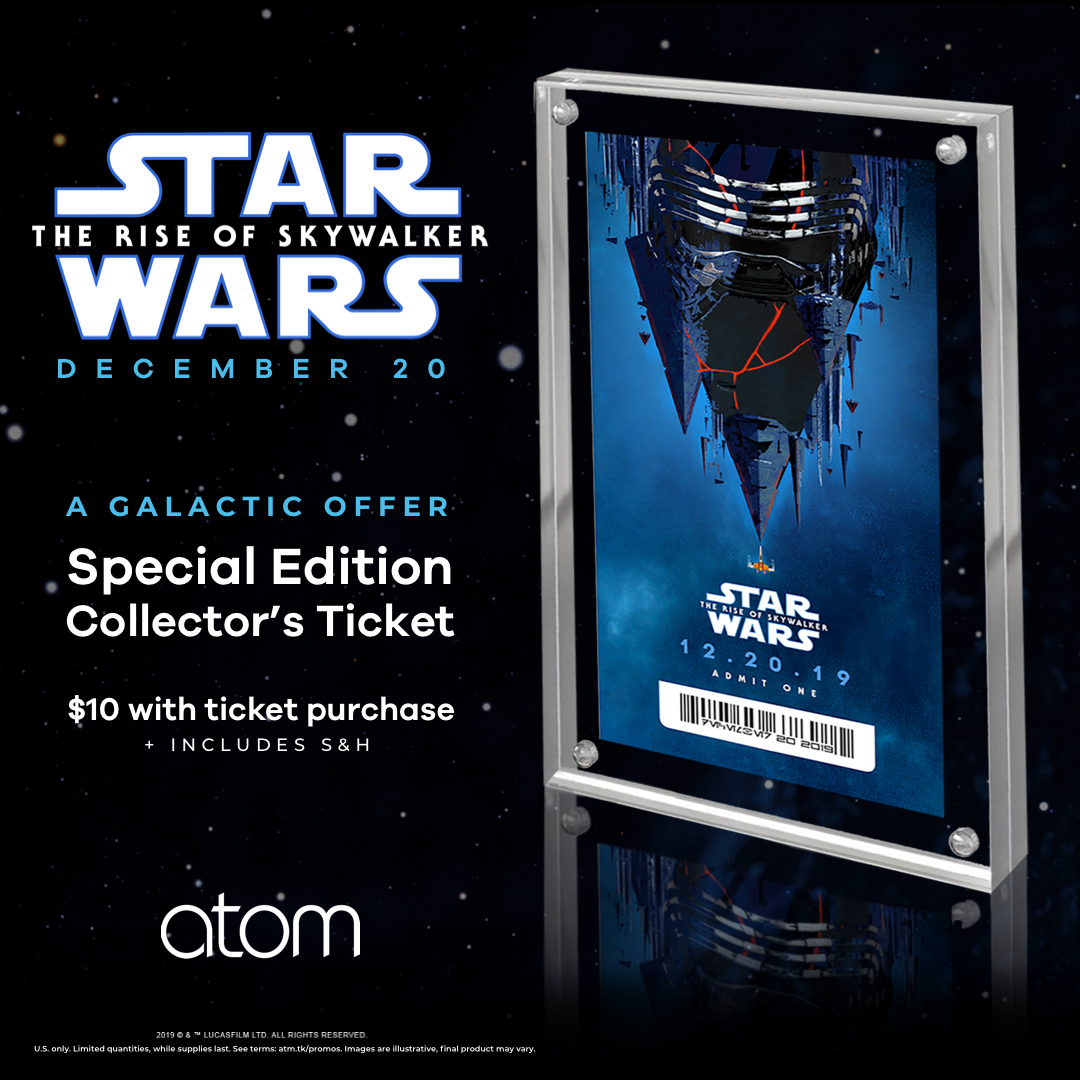 Ticket offers for Star Wars: The Rise of Skywalker from Atom