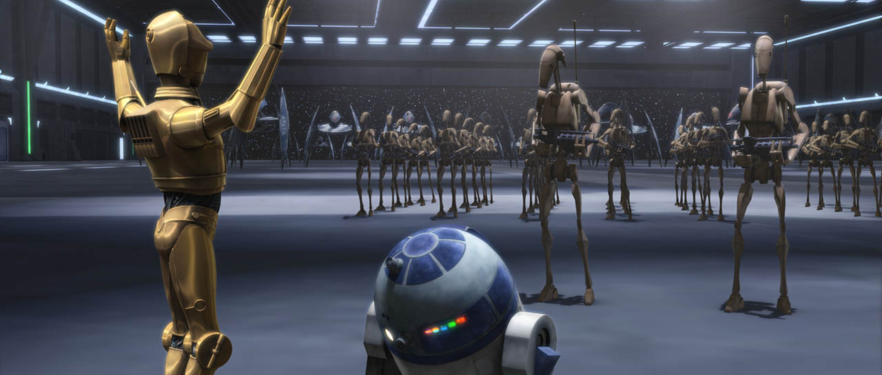 "A scene from ""Nomad Droids."""