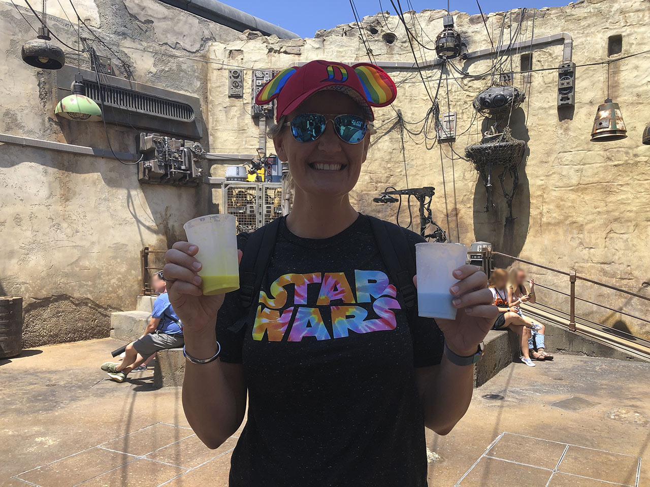 Star Wars fan at Star Wars: Galaxy's Edge