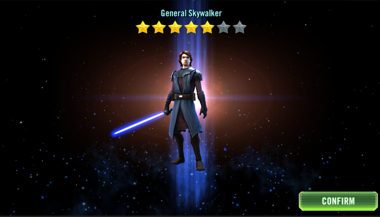 General Anakin Skywalker in Star Wars: Galaxy of Heroes
