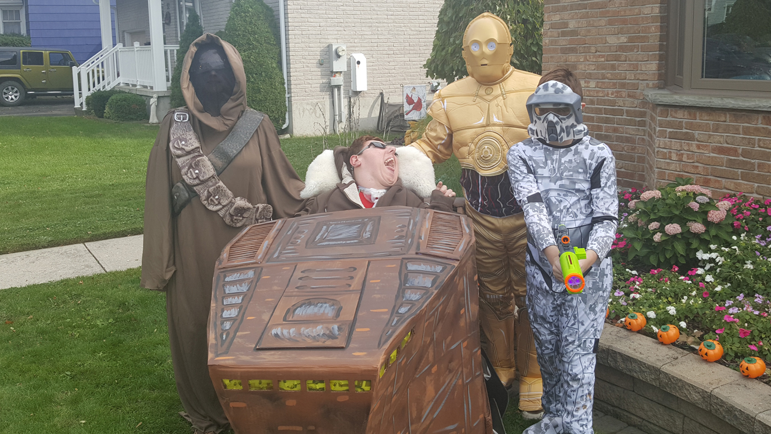 Lesley McDonald makes her own Star Wars Halloween costumes for her son, Brandon.
