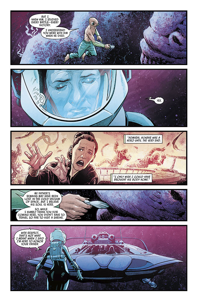 A page from Journey to Star Wars: The Rise of Skywalker - Allegiance #2.