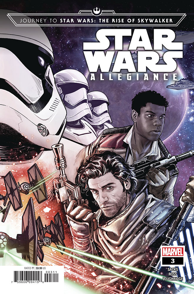 The cover of Journey to Star Wars: The Rise of Skywalker - Allegiance #3.