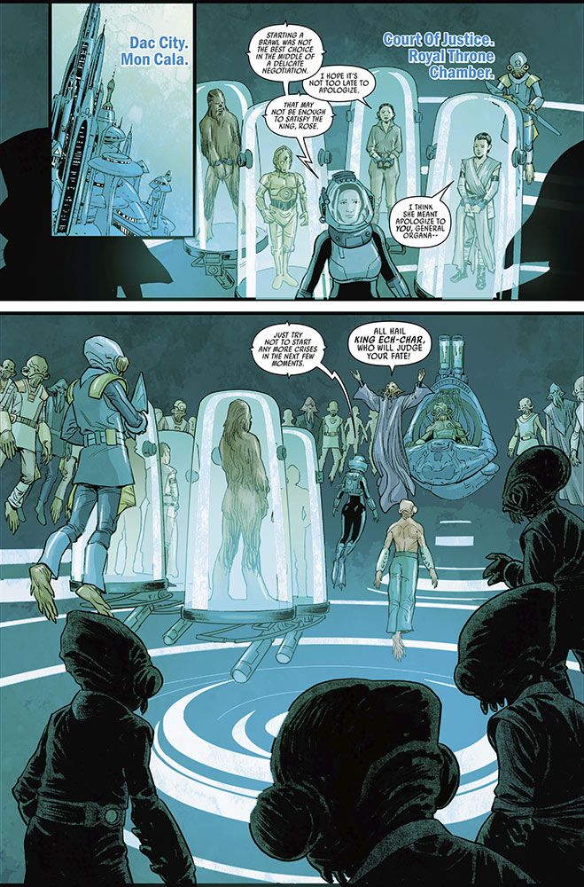 A page from Journey to Star Wars: The Rise of Skywalker - Allegiance #3.