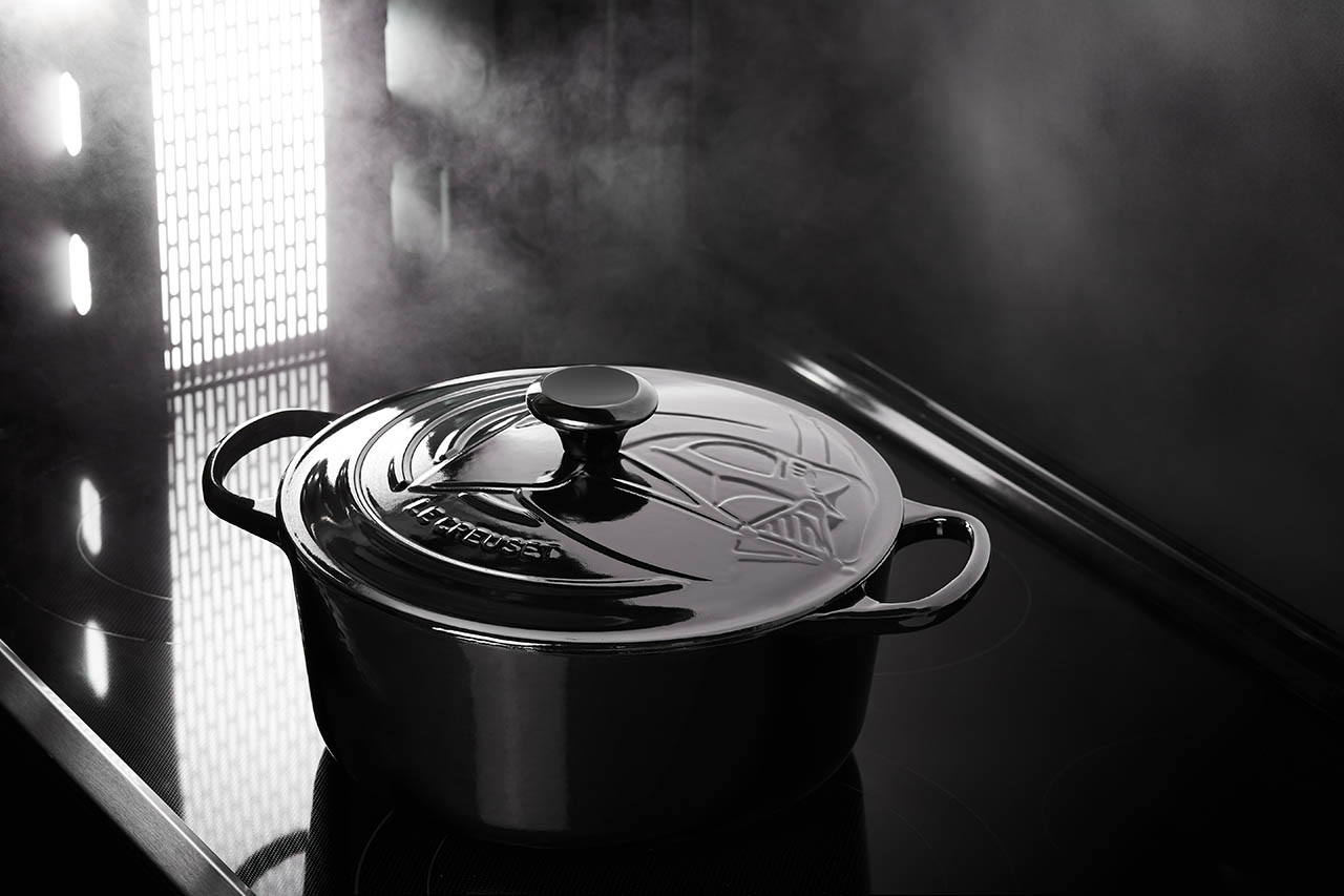 A Darth Vader Dutch oven from the Star Wars Le Creuset line.