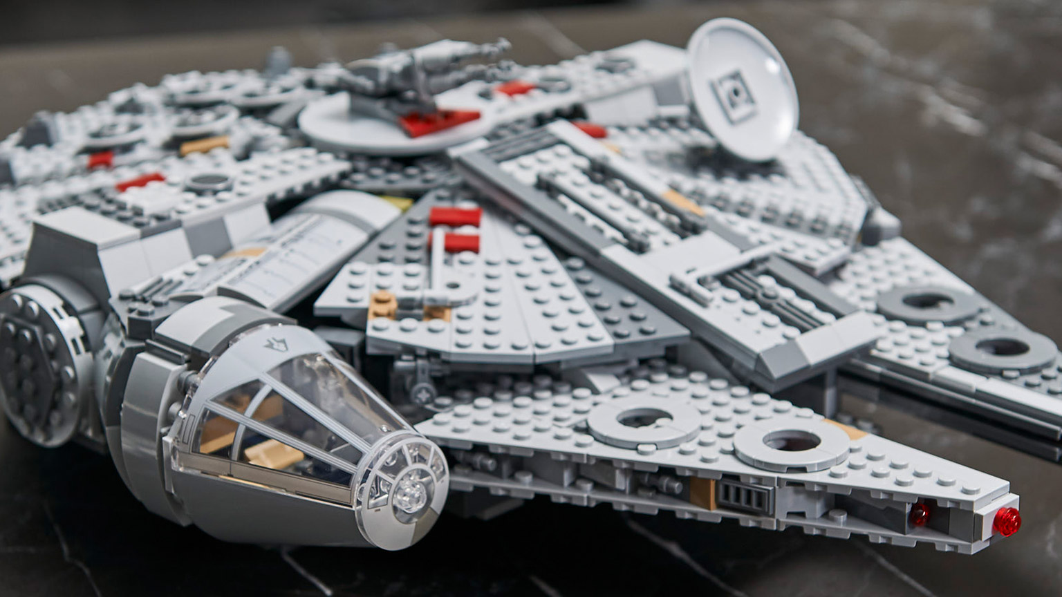 The new LEGO Millennium Falcon from The Rise of Skywalker.