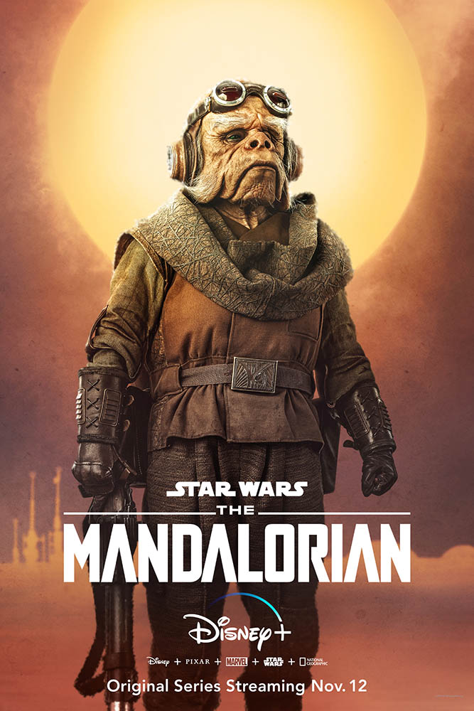 A character poster for The Mandalorian featuring Kuiil.