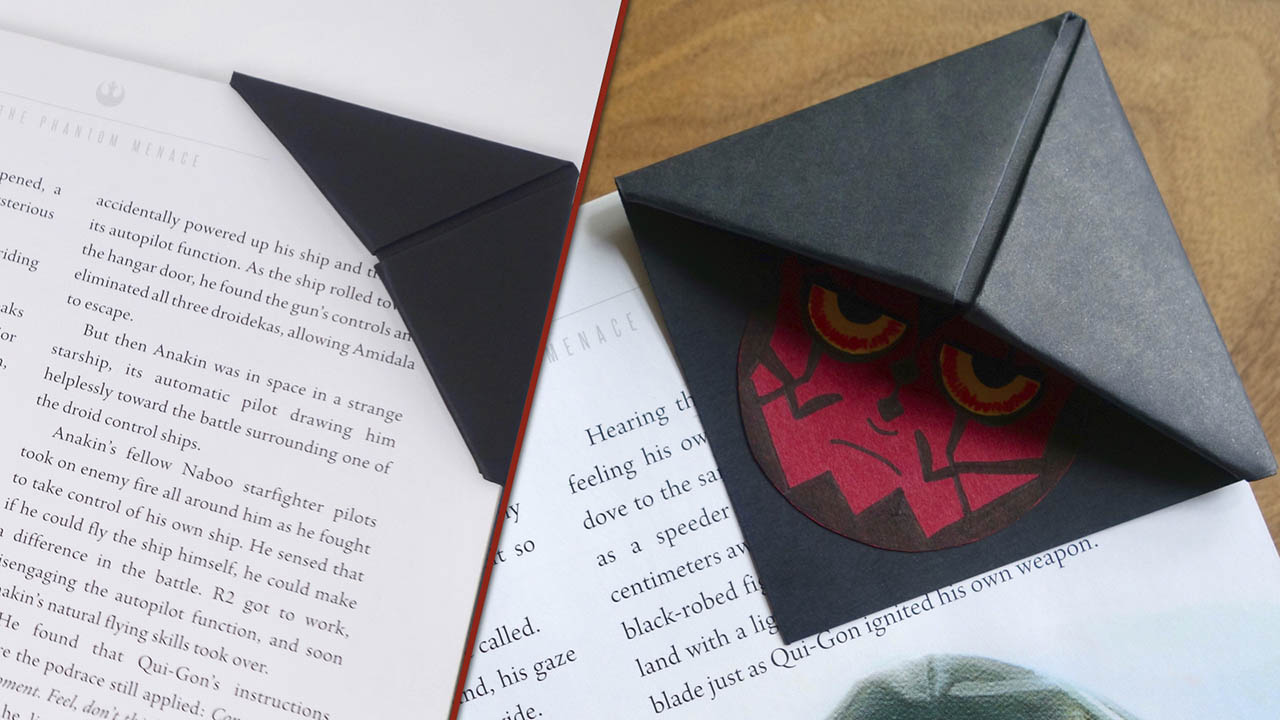 Darth Maul bookmark finished
