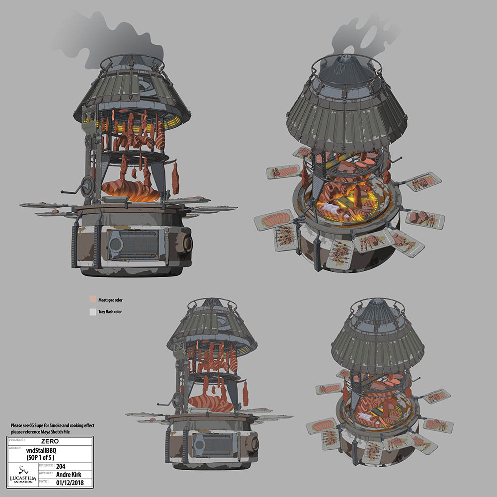 Meat grill concept art
