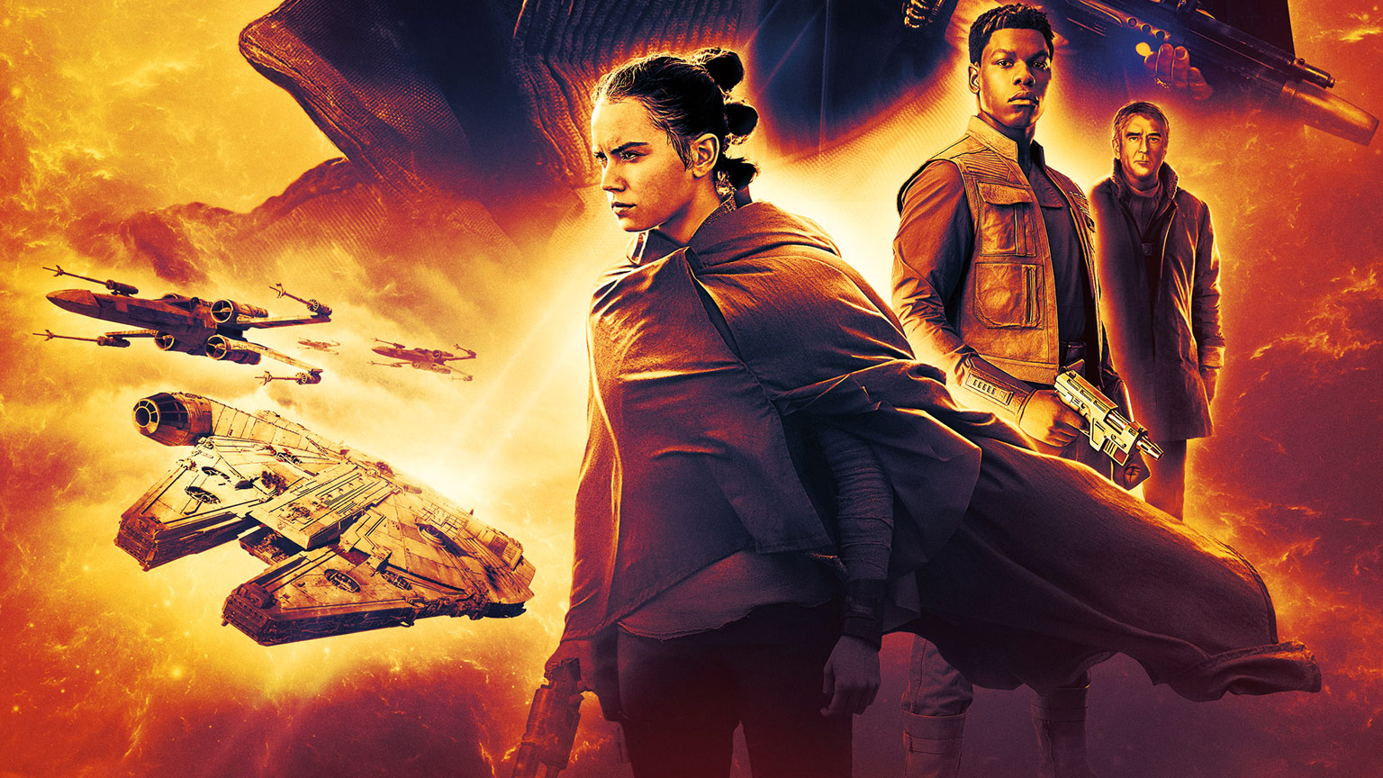 Rey, Finn, and Wedge Antilles on the cover of Resistance Reborn.