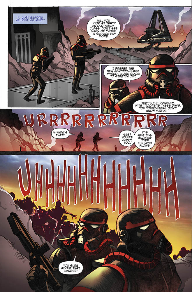 A page from IDW's Return to Vader's Castle #5