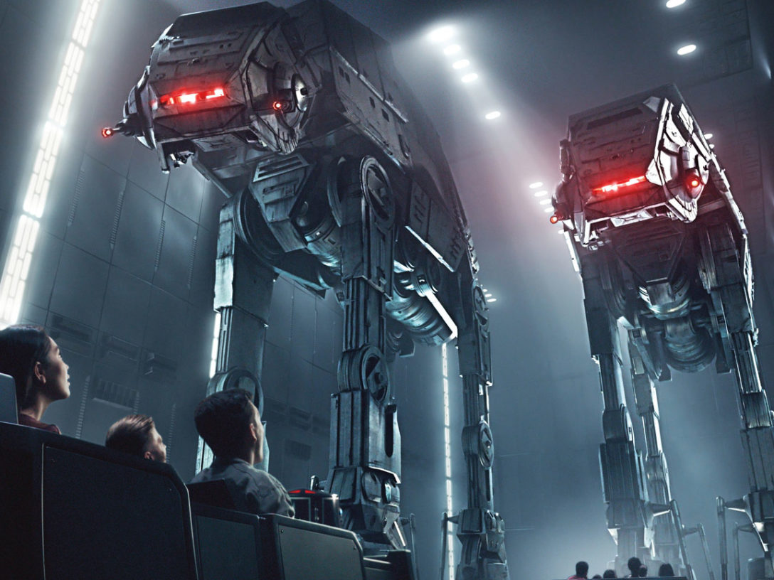 Walkers on the Star Wars: Rise of the Resistance attraction