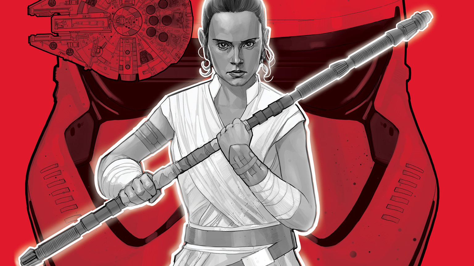 Rey on the cover of Spark of the Resistance.