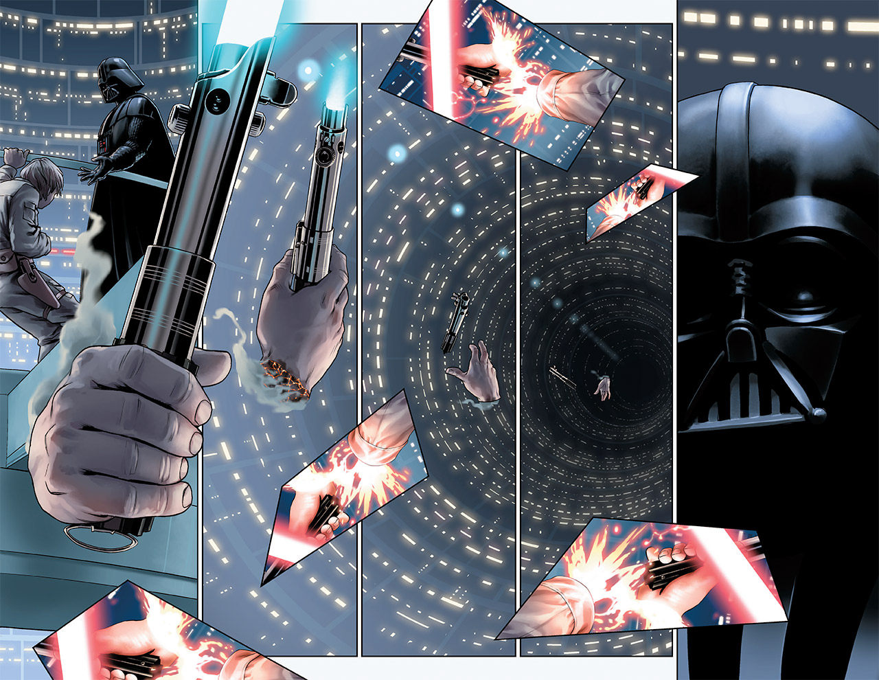 Pages from the new Marvel Star Wars.