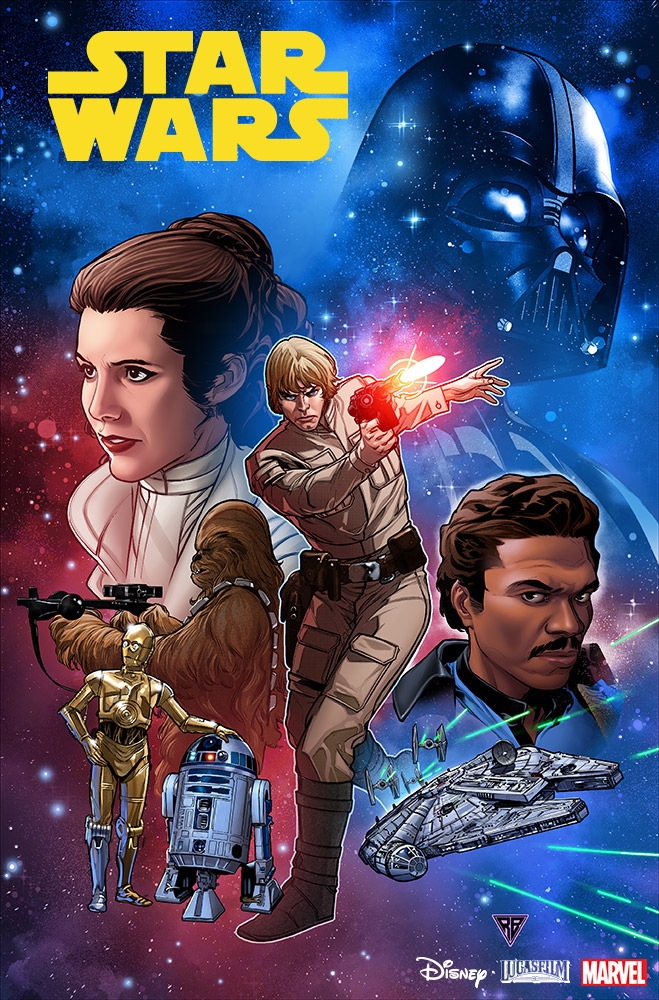 the cover of the new Marvel Star Wars.