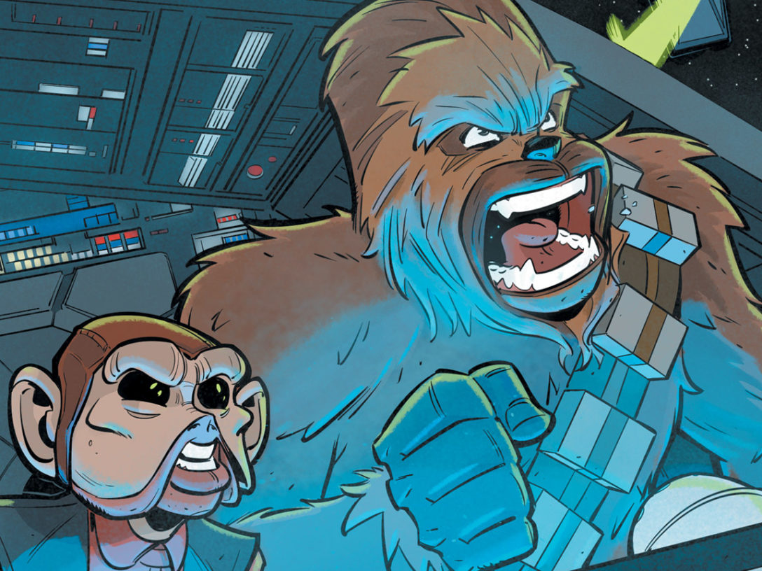Chewbacca and Nien Nunb in Star Wars Adventures #27