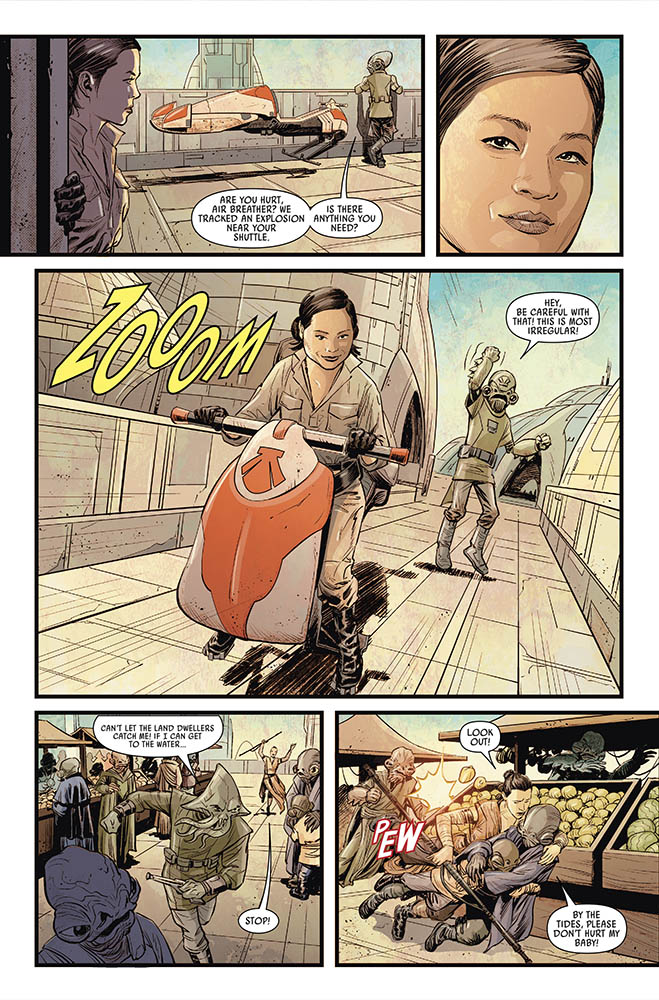 A page from Marvel's Journey to Star Wars: The Rise of Skywalker - Allegiance #4
