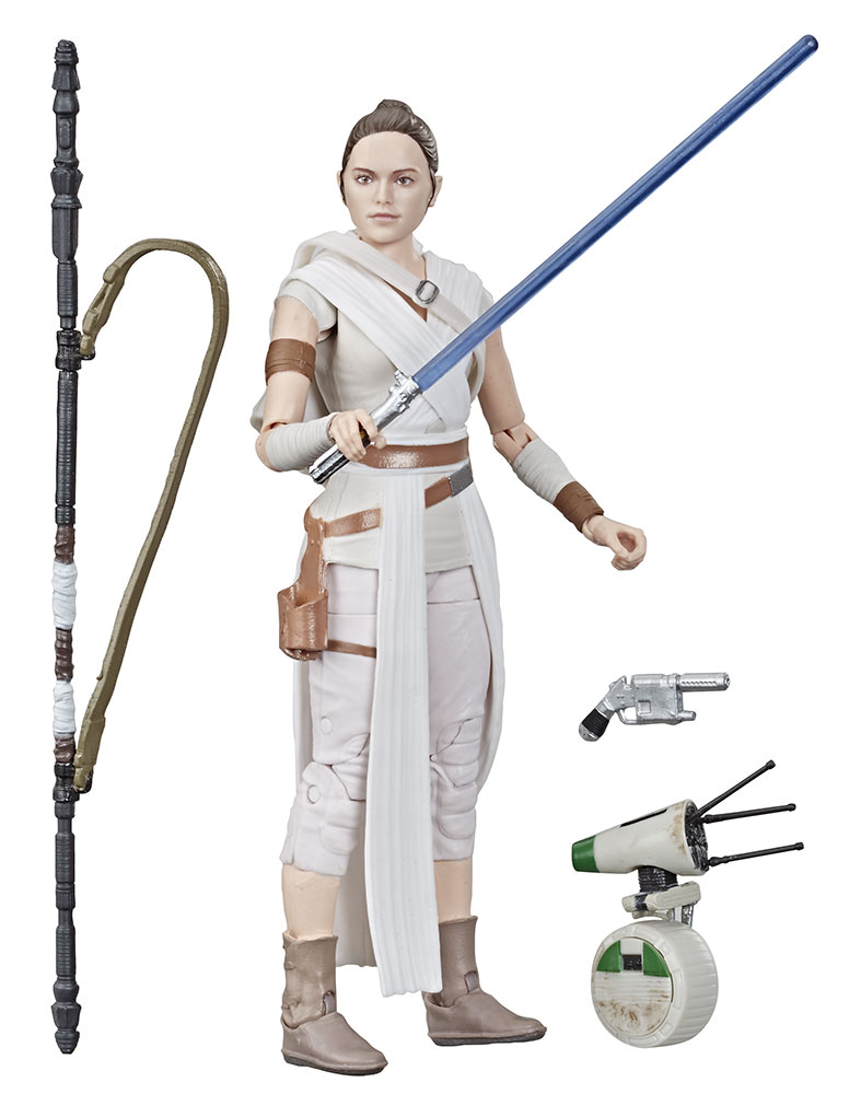 Hasbro Black Series Rey out of the box