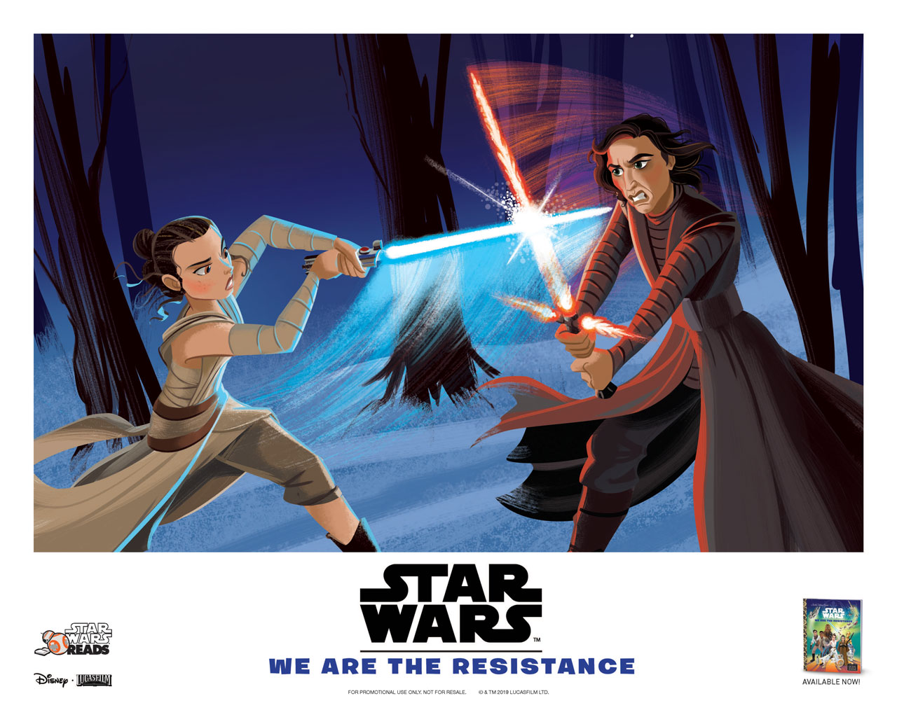 Star Wars Reads poster: Rey and Kylo Ren