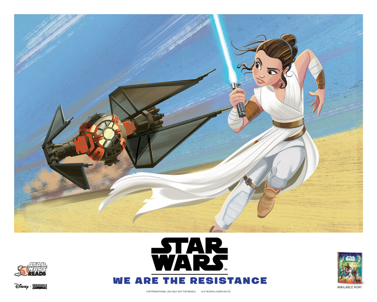Star Wars Reads poster: Rey