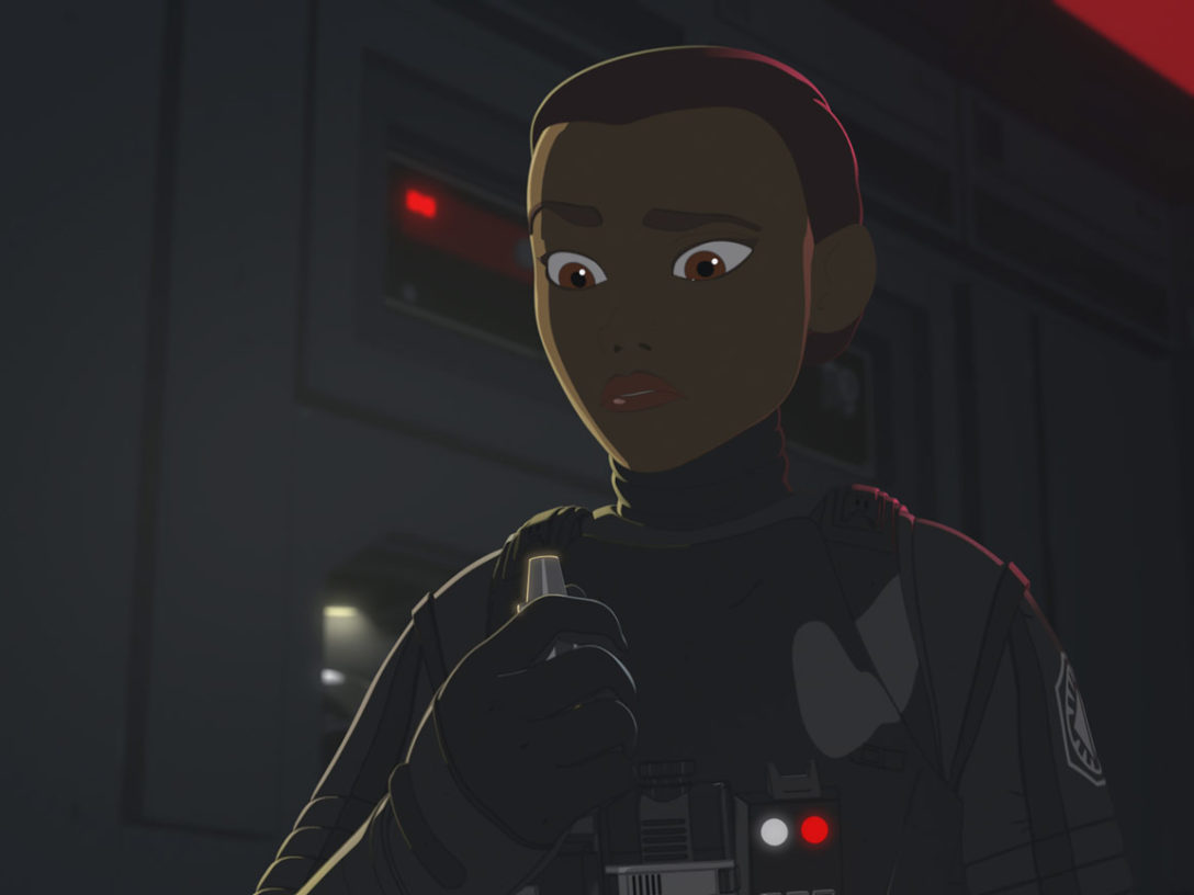 """Tam in First Order pilot gear from Star Wars Resistance """"Into the Unknown"""""""