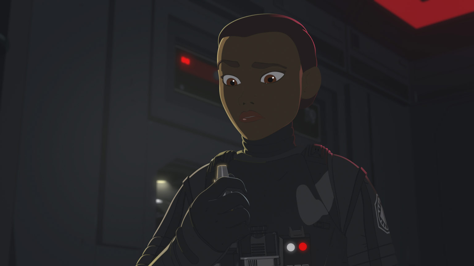 "Tam in First Order pilot gear from Star Wars Resistance ""Into the Unknown"""