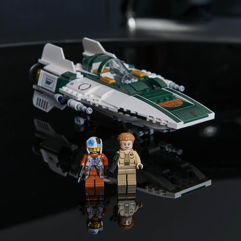 The new LEGO A-Wing from The Rise of Skywalker.