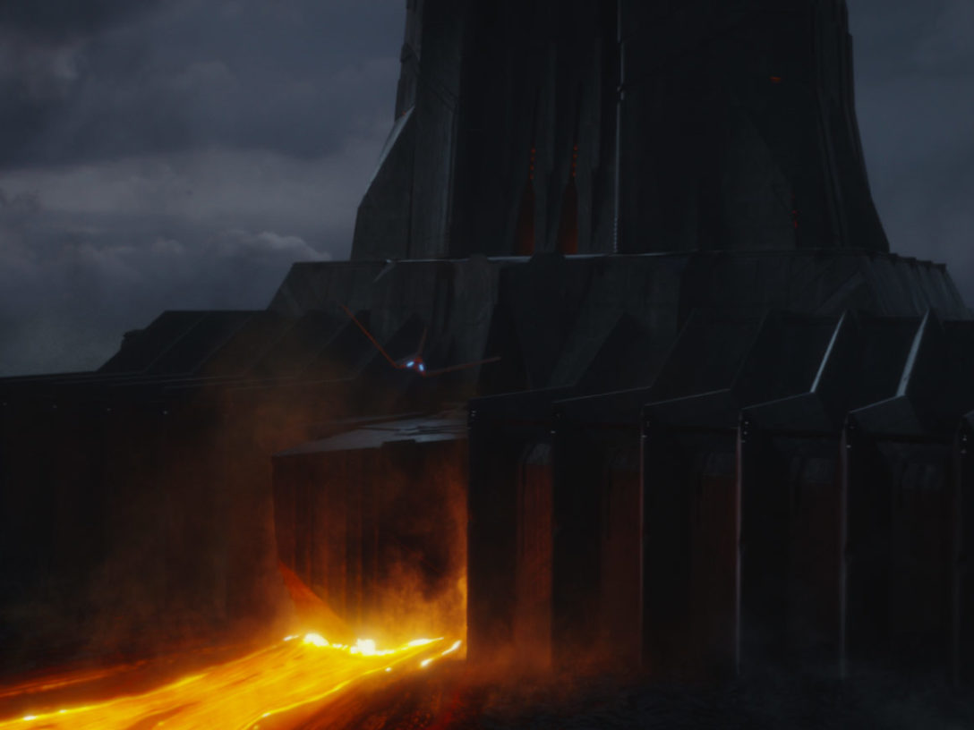 Darth Vader's castle on Mustafar