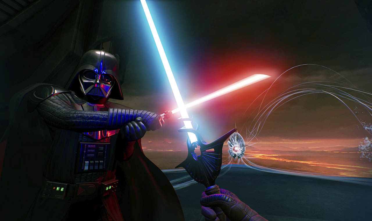 Vader Immortal: Episode III screen dueling Darth Vader