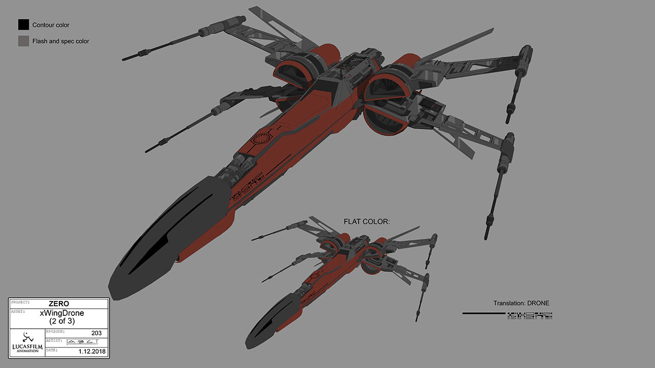 X-wing drone concept art