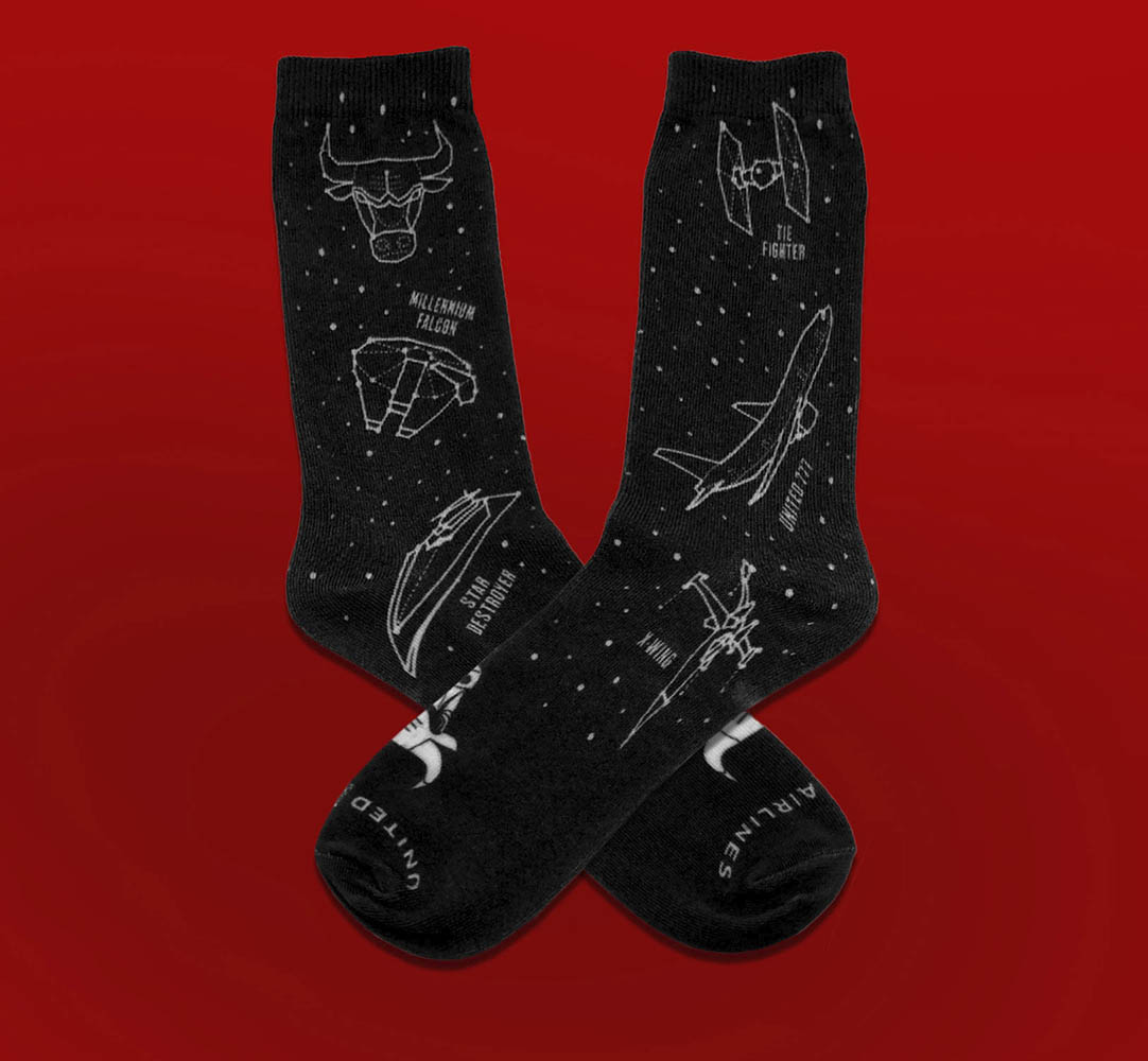 Chicago Bulls - Star Wars socks giveaway
