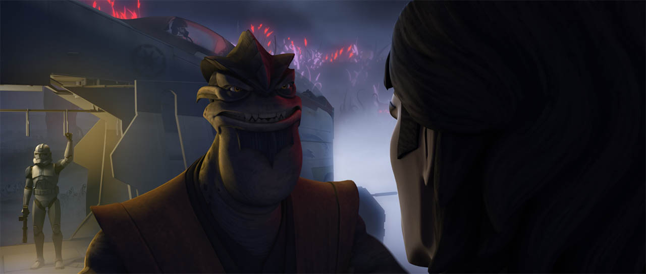 "A scene from ""Darkness on Umbara."""