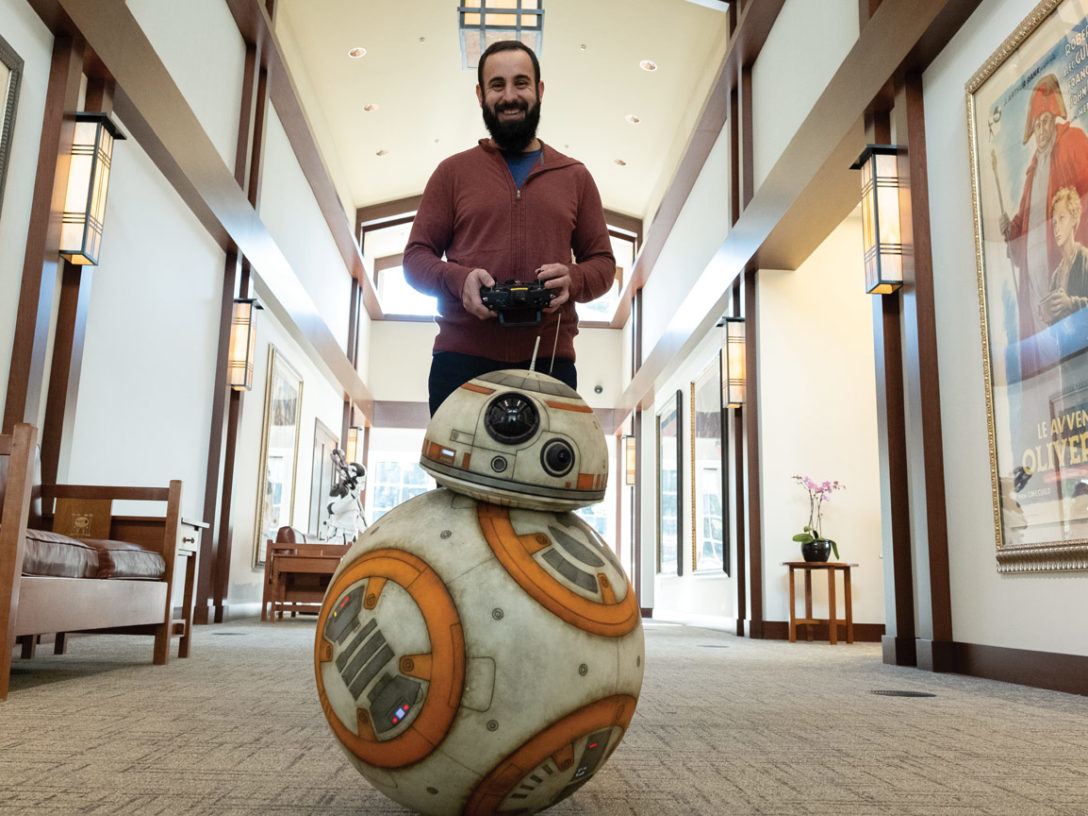 Este Meza of Lucasfilm with BB-8