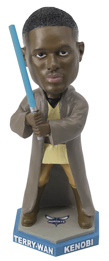 Charlotte Hornets - Terry Rozier Jedi bobblehead giveaway
