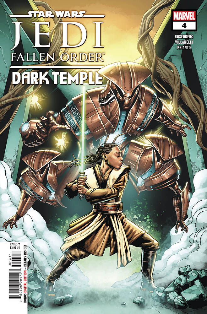 The cover of Jedi: Fallen Order Dark Temple issue #4.
