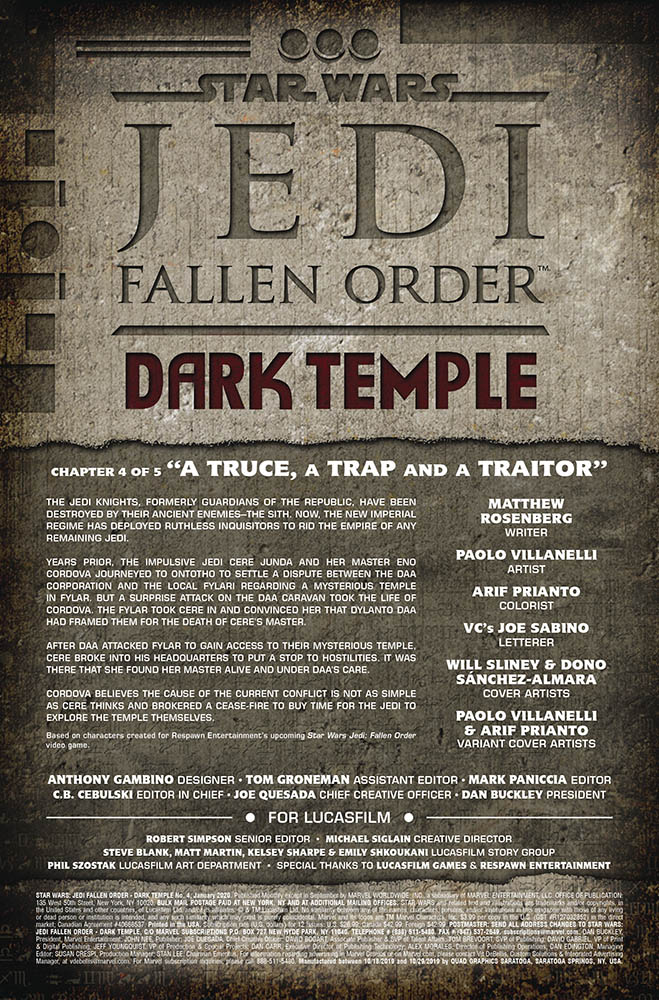 A page from Jedi: Fallen Order Dark Temple issue #4.