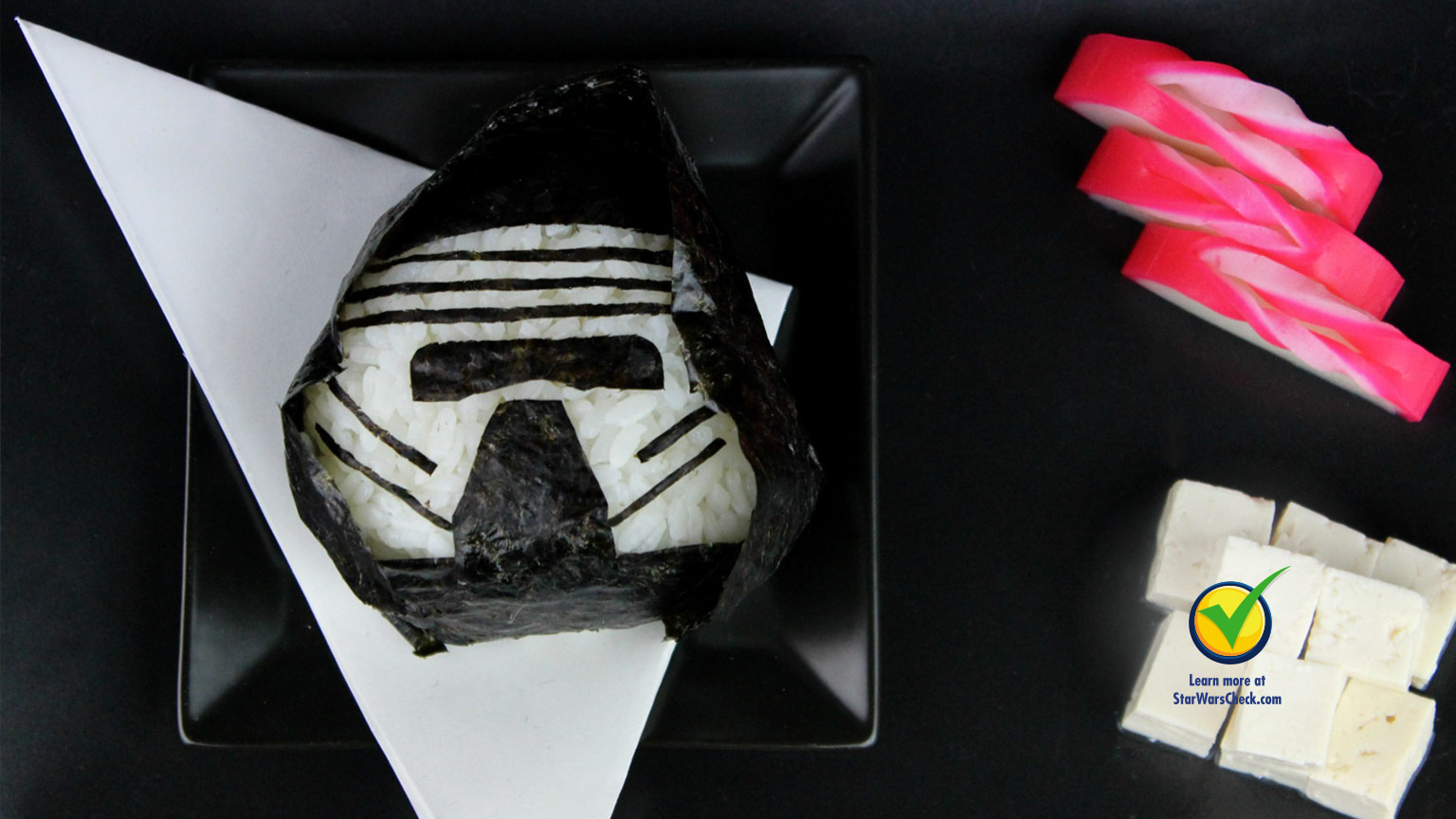 Kylo Ren rice ball
