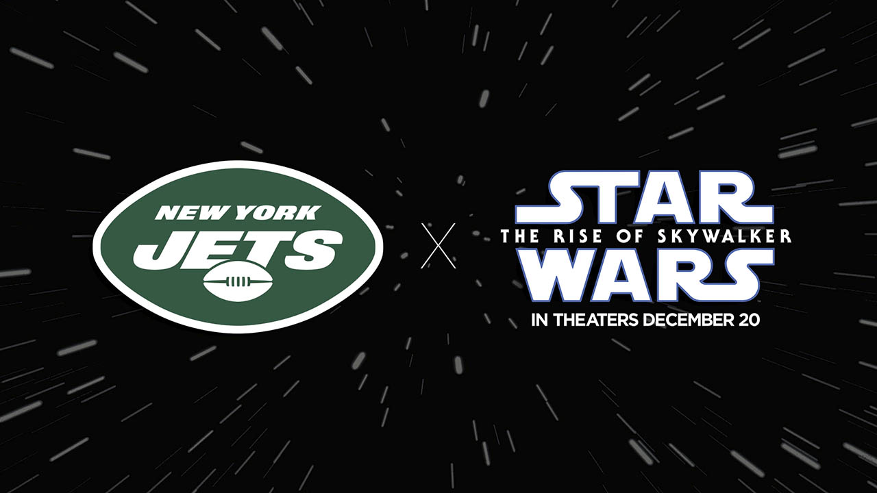 Star Wars and Jets logos