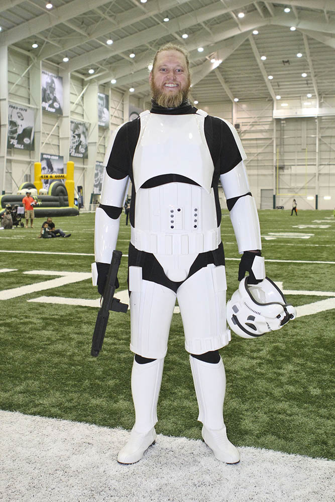Nick Mangold as a stormtrooper