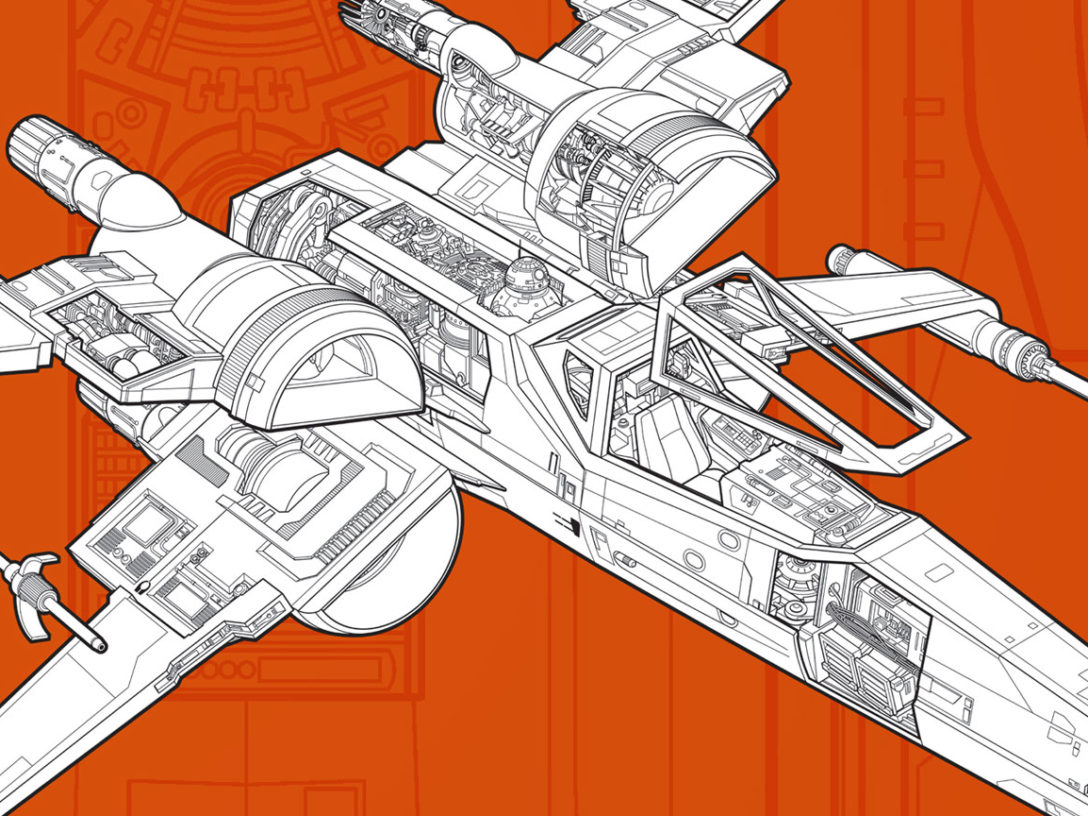 Rebel Starfighters book - X-wing from front cover