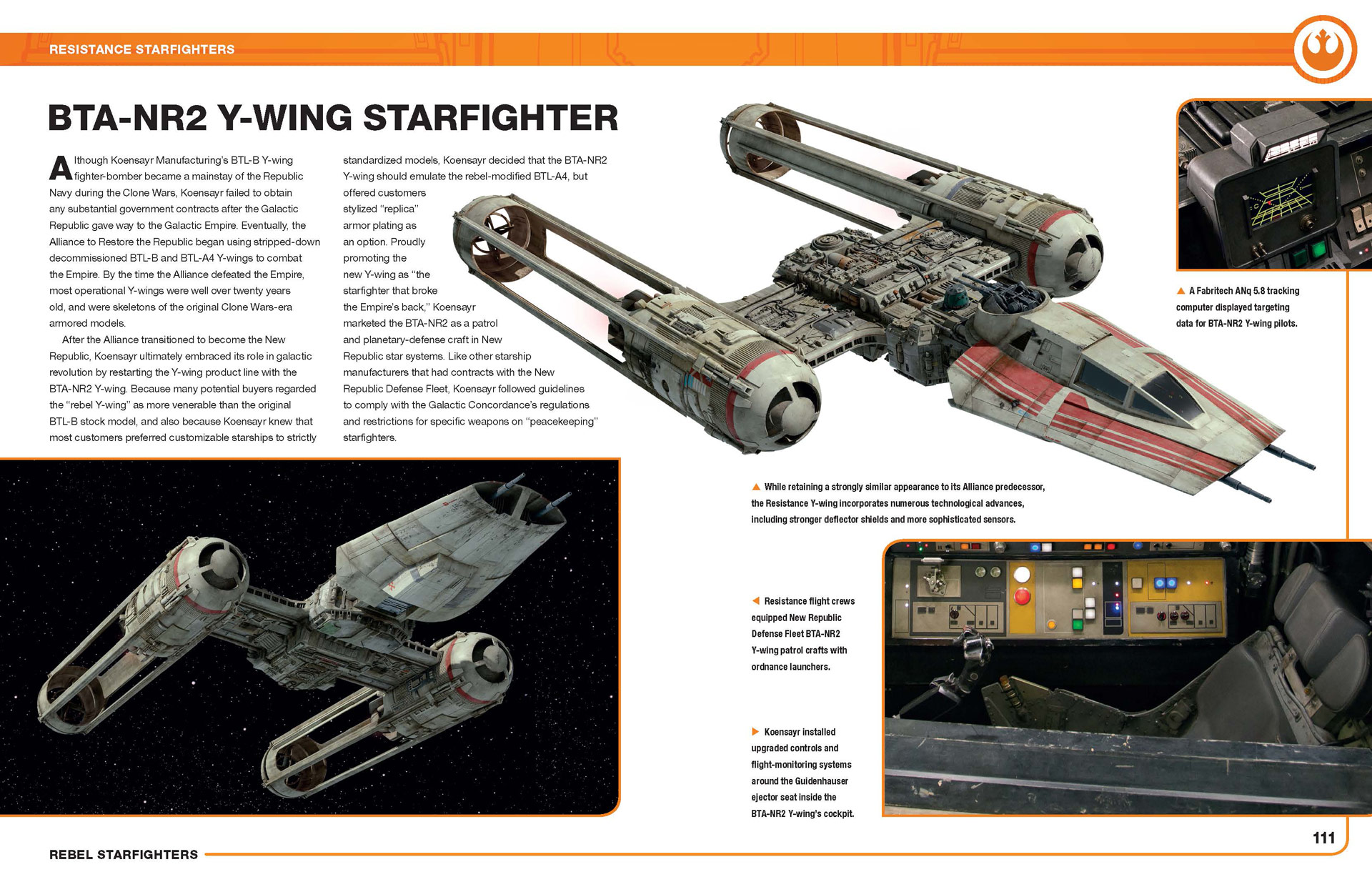 Rebel Starfighters book - Y-wing spread