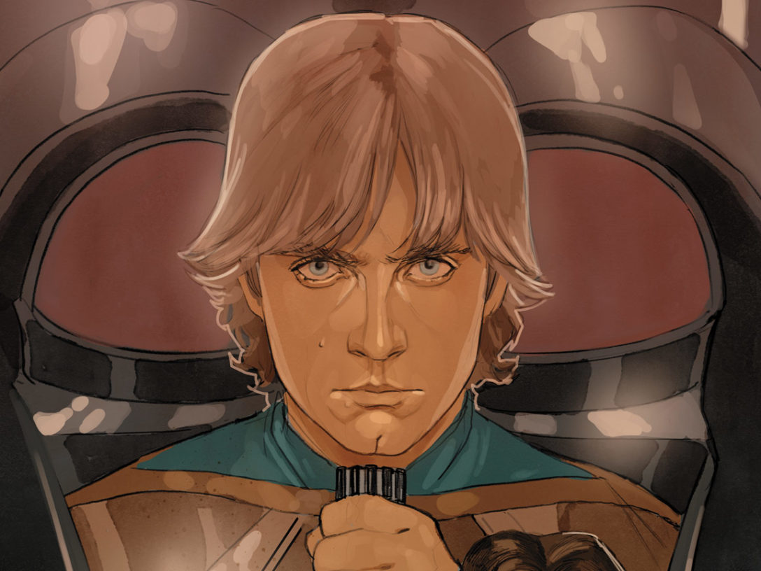 Luke Skywalker on the cover of Star Wars #75
