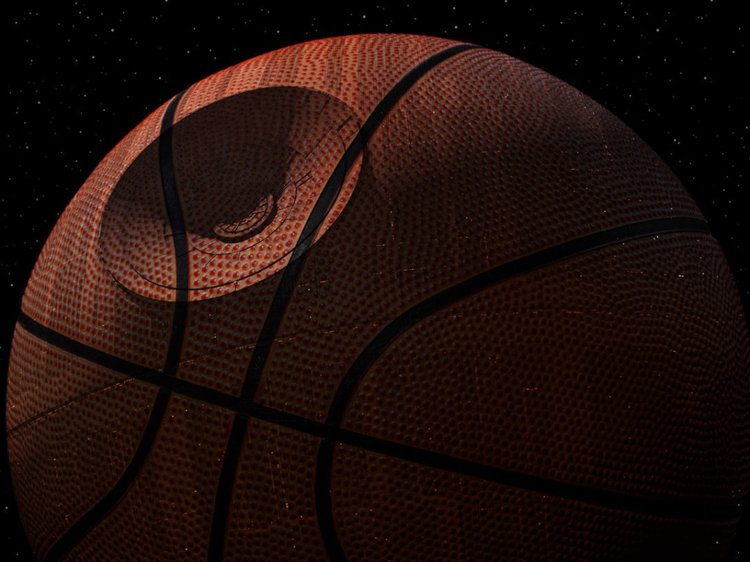 Death Star basketball!