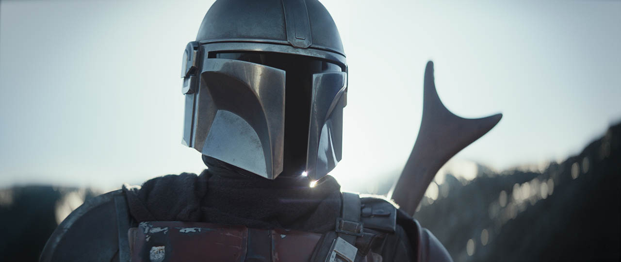 A scene from The Mandalorian.