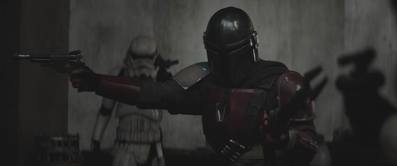 The Mandalorian and stormtroopers