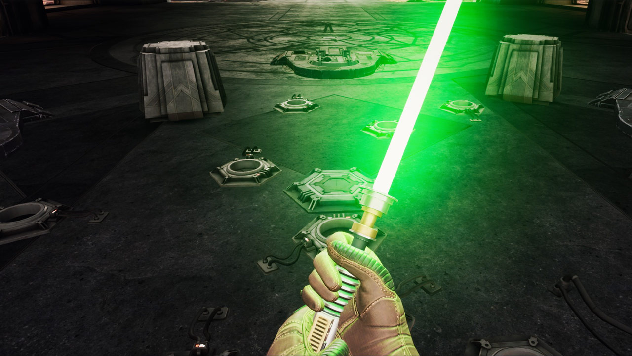 Luke Skywalker lightsaber in Vader Immortal: Episode III