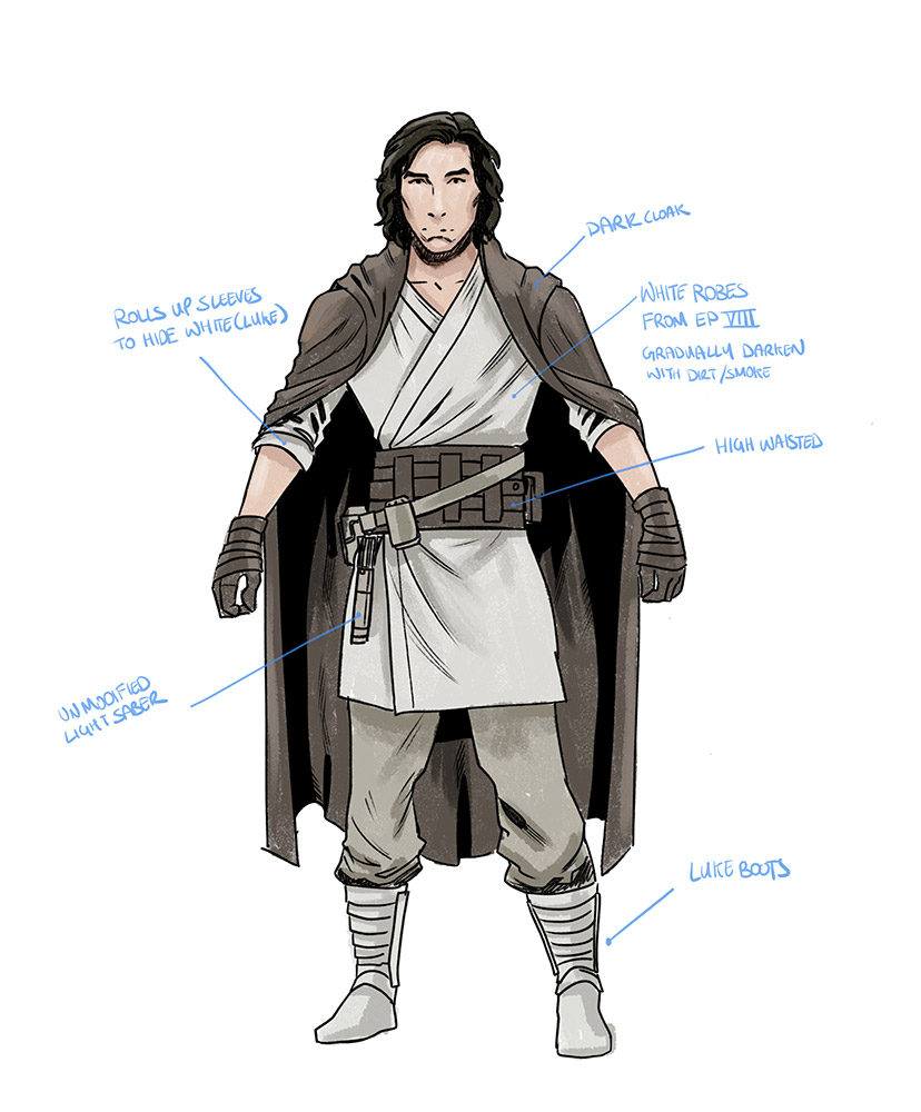Concept art for young Ben Solo.