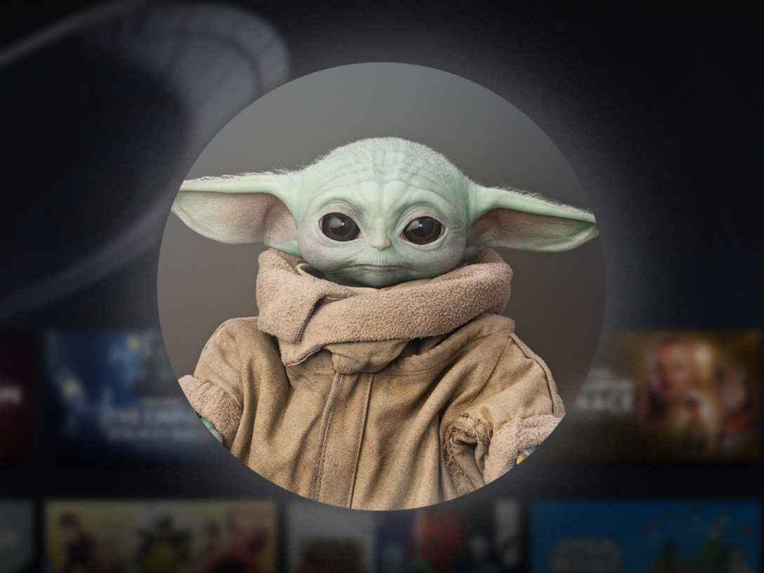 The Child from the Mandalorian as an avatar for Disney+ users.